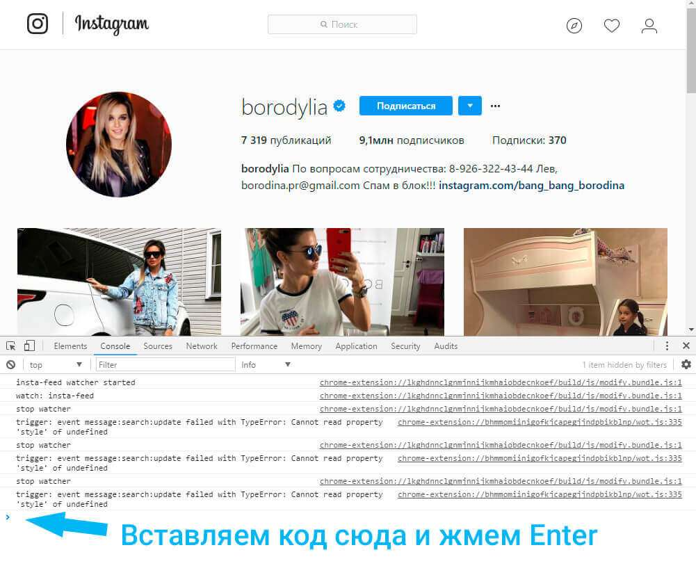 instagram Бородиной
