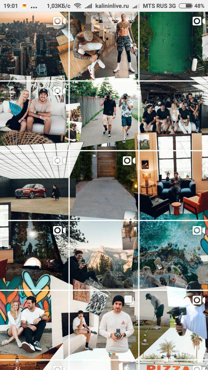 Как сделать бесшовный дизайн instagram